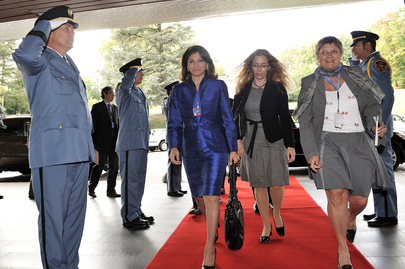 President of Costa Rica Arrives at Human Rights Council