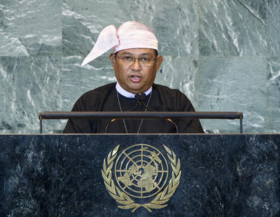 Foreign Minister of Myanmar Addresses General Assembly