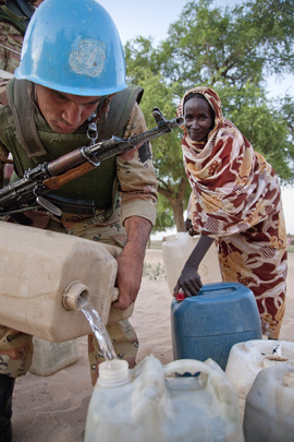 Egyptian Peacekeepers at Work in North Darfur, Sudan