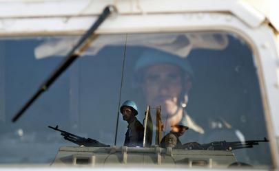 Egyptian Peacekeepers at Work in North Darfur, Sudan
