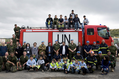 UNIFIL Fire Brigade Visited by Lebanese Students