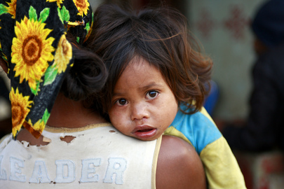 Mother and Child in Timor-Leste Village