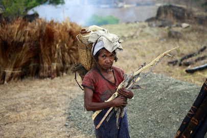 Local Woman in Timor-Leste Village