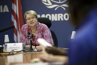 UN Special Representative for Liberia Briefs Press on Elections Preparations