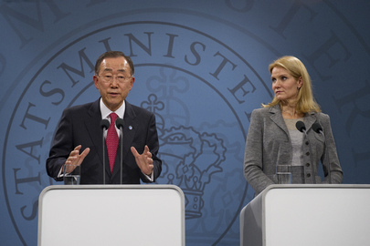 Secretary-General and Danish Prime Minister Brief Press in Copenhagen
