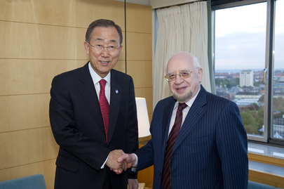 Secretary-General Meets Former Algerian Foreign Minister and ICJ President
