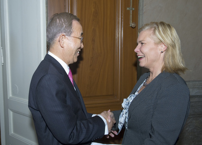 Secretary-General Meets Development Cooperation Minister of Sweden