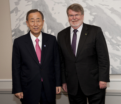 Secretary-General Meets Speaker of Australian House of Representatives