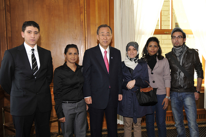 Secretary-General Meets Young Arab Leaders in Geneva