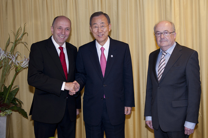 Secretary-General Meets Swiss Parliament Heads