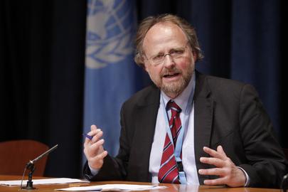Relator Especial da ONU sobre a Liberdade de Religião ou Crença, Heiner Bielefeldt Foto: ONU/Paulo Filgueiras