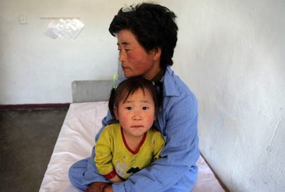 Mother and Child at UN-Supported Pediatric Hospital in DPRK