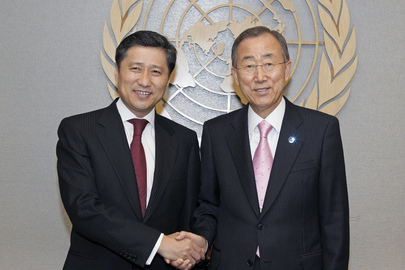 Secretary-General Meets Prime Minister of Mongolia
