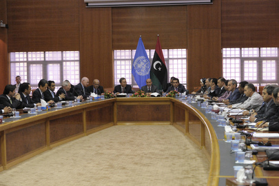 Secretary-General Meets with Libya's National Transitional Council in Tripoli