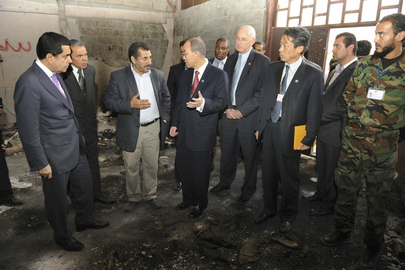 Secretary-General Visits Khalida Ferjan Grave Site in Tripoli