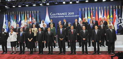 Group Photo of Secretary-General and G20 Leaders in Cannes, France