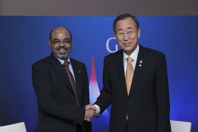 Secretary-General Meets Prime Minister of Ethiopia at Cannes G20