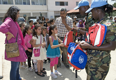 UN Provides School Supplies to Children in Yarin, Lebanon