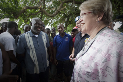 Special Representative for Liberia Meets Voters during Run-Off Election