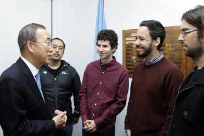Linkin Park Pledges Support to Secretary-General's Sustainable Energy Project
