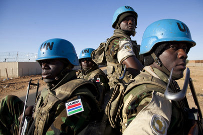 Gambian Peacekeepers on Escort Duty in North Darfur