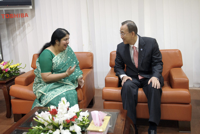 Secretary-General Meets Bangladesh State Minister for Women's Affairs