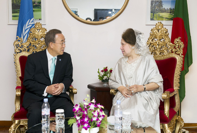 Secretary-General Meets Bangladeshi Leader of Opposition