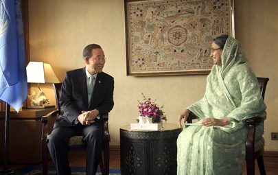 Secretary-General Meets Foreign Minister of Bangladesh in Dhaka