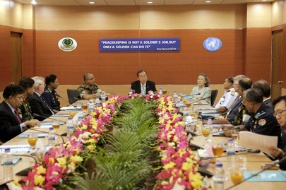 Secretary-General Visits Institute of Peace Support Operations in Dhaka