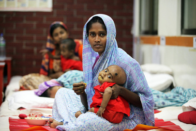 Mother and Child at Disease Research Centre in Dhaka