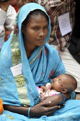 Mother and Child at Community Clinic in Rural Bangladesh