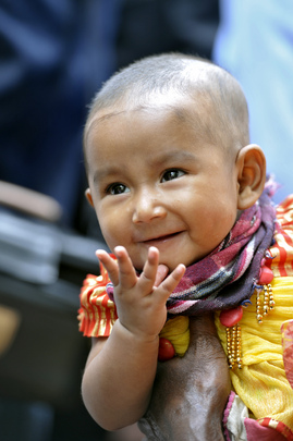 Child at Community Clinic in Rural Bangladesh