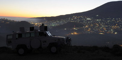 UN Observer Force on Duty in Golan Heights
