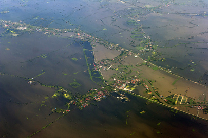 Aerial View of Floods in Bangkok, Thailand