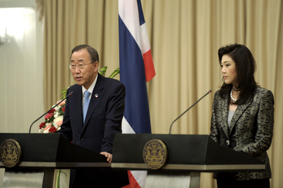 Secretary-General and Thai Prime Minister Brief Press