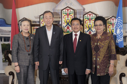 Secretary-General Meets Governor of Central Kalimantan Province, Indonesia