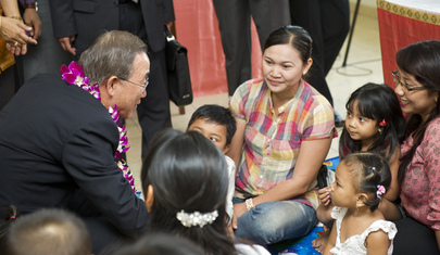 Secretary-General's Visit to Bali Health Centre Focuses on Women, Children