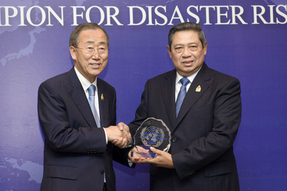 Secretary-General Designates Indonesian President Champion for Disaster Risk Reduction