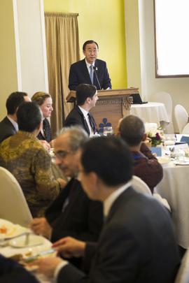 Secretary-General Addresses Global Pulse Stakeholder Lunch