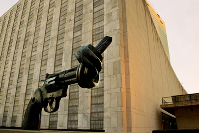 Famed Non-Violence Sculpture at UN Headquarters