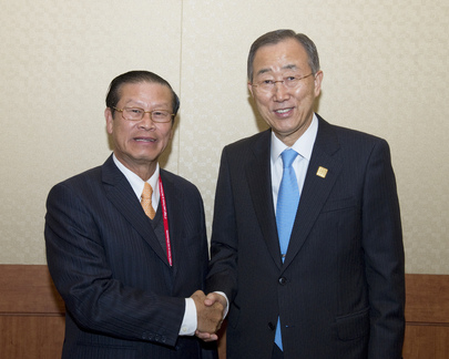 Secretary-General Meets Deputy Prime Minister of Laos in Busan