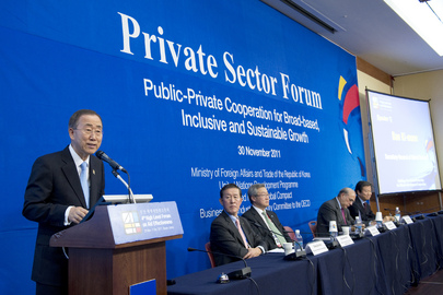 Secretary-General Speaks at Private Sector Forum in Busan