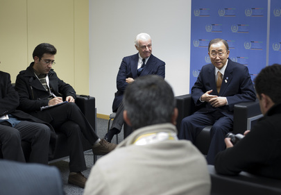 Secretary-General Meets Press ahead of Afghanistan Conference