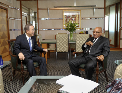 Secretary-General Meets President of South Africa in Durban