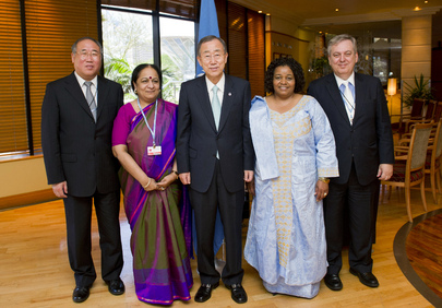 Secretary-General Meets BASIC Representatives in Durban