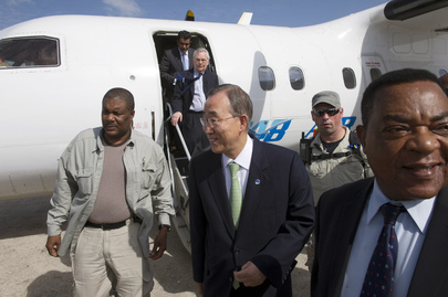 Secretary-General and Assembly President Arrive for Unannounced Visit to Mogadishu