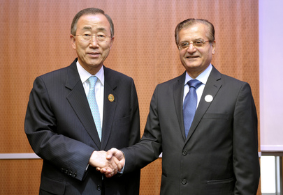 Secretary-General Meets Lebanese Foreign Minister in Doha