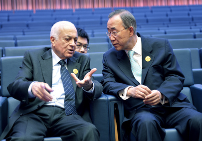 Secretary-General Meets Head of Arab League in Doha