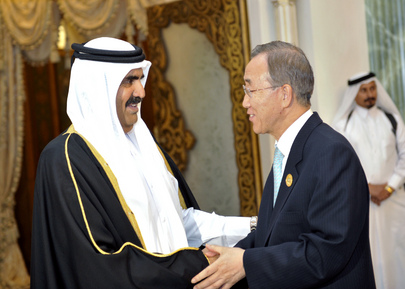 Secretary-General Meets Amir of Qatar in Doha