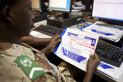 Elections Documents Arrive at UNOCI Headquarters